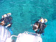 ブセナテラスの海で体験ダイビング