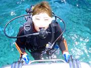 初めてのダイビングで水中世界に感激