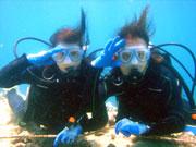 ブセナで初ダイビングをしながら水中撮影