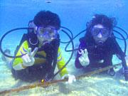 初めての方でも8歳から参加出来るジュニア体験ダイビング